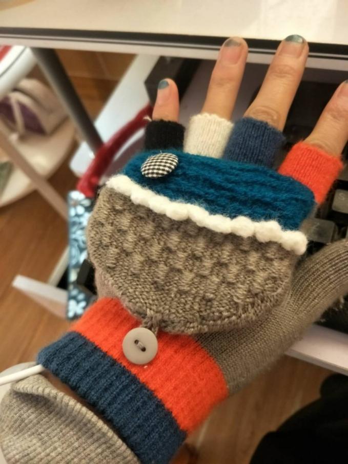 佳貝USB電熱手套雙面加熱電暖手套充電手套暖手寶 暖寶寶發熱手套