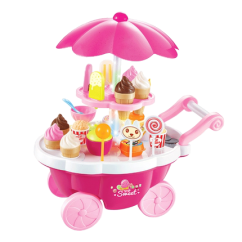 Toy Kitchen Sets Lights For Under Cabinets 贝恩施儿童玩具女孩过家家音乐灯光手推糖果车冰淇淋玩具厨房套装 Tmall 贝恩施儿童玩具女孩过家家音乐灯光手推糖果车冰淇淋玩具