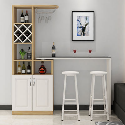 living room console simple interior design household bar table modern minimalist wine cabinet partition tempered glass european rotating small