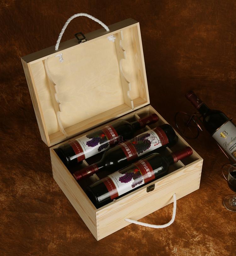 紅酒盒六支紅酒木盒紅酒盒子6支包裝禮盒酒盒葡萄酒紅酒木箱定做