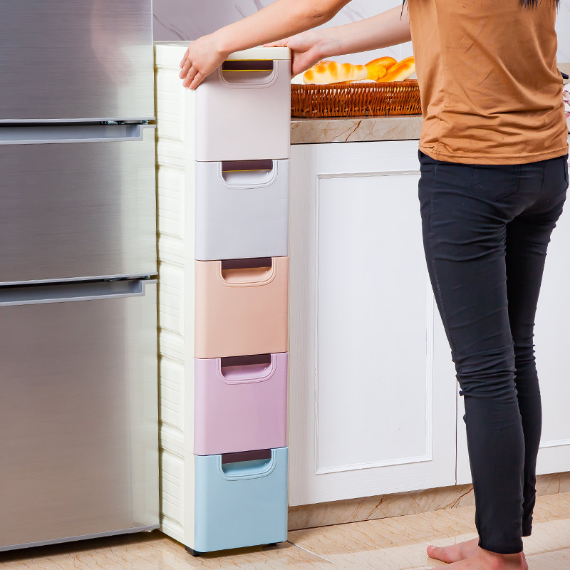 storage cabinets kitchen best remodels usd 41 21 20cm plastic drawer type clip cabinet finishing lockers bathroom narrow