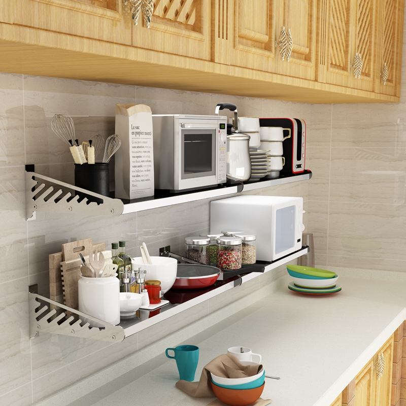 kitchen supplies online free standing cupboards usd 93 26 stainless steel microwave oven rack racks wall mounted shelves storage