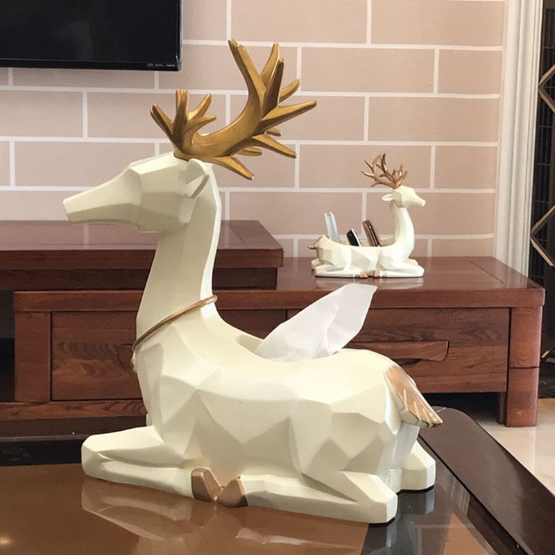 living room ornaments bamboo furniture usd 65 04 creative nordic style decorative tissue box simple modern remote control storage deer pumping tray