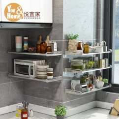 Ikea Stainless Steel Shelves For Kitchen Counter Stools With Backs 悦宜家厨房置物架壁挂式304不锈钢厨房用品收纳微波炉储物层架子 Tmall 悦宜家厨房置物架壁挂式304不锈钢厨房用品收纳微波炉储物层