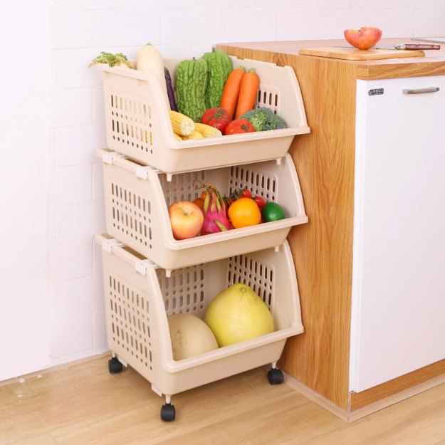 kitchen vegetable racks, racks, storage racks, home dish baskets