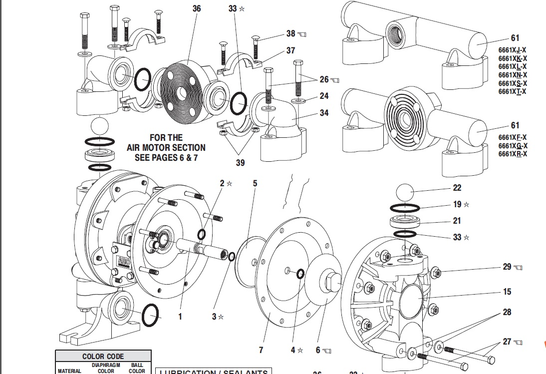 [USD 288.75] Ingersoll Rand ARO Pneumatic diaphragm pump