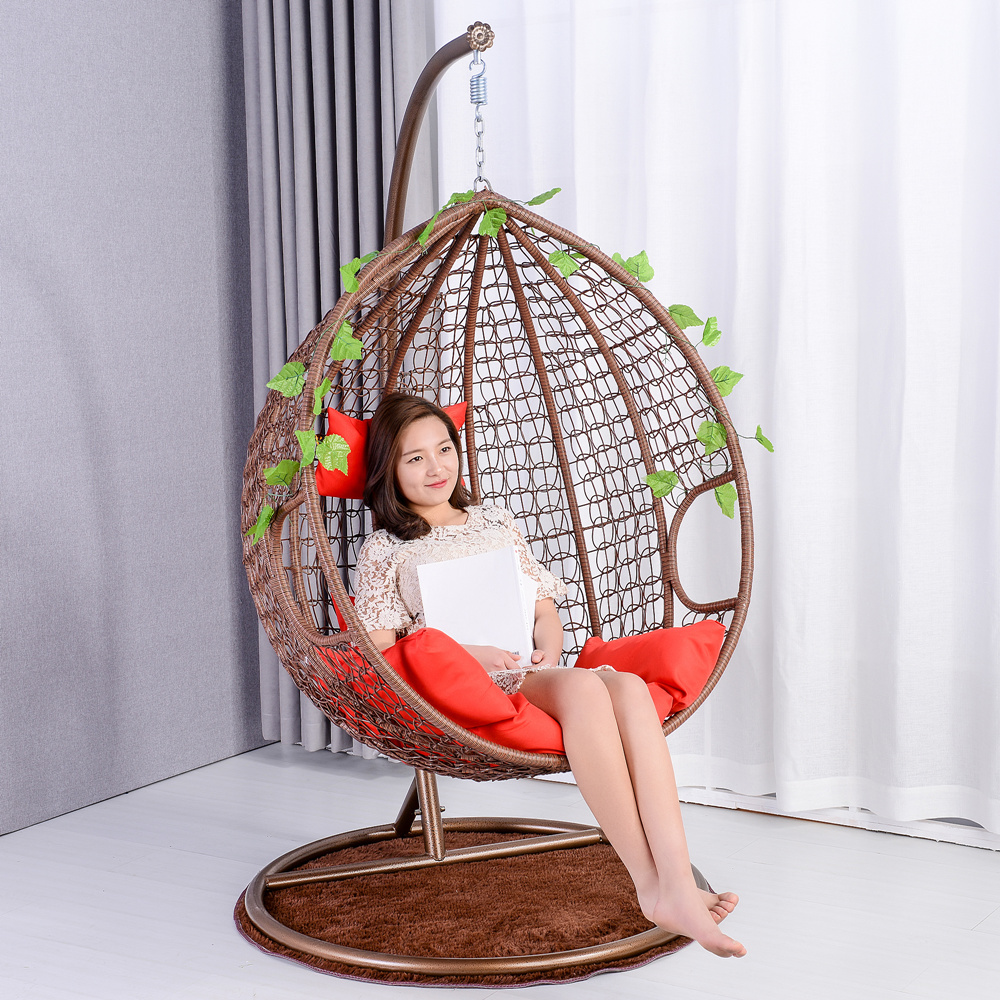 Bird Nest Chair Halo Hanging Basket Rattan Chair Double Hanging Chair Swing Single Bird Nest Adult Indoor Outdoor Balcony Lazy Cradle Chair