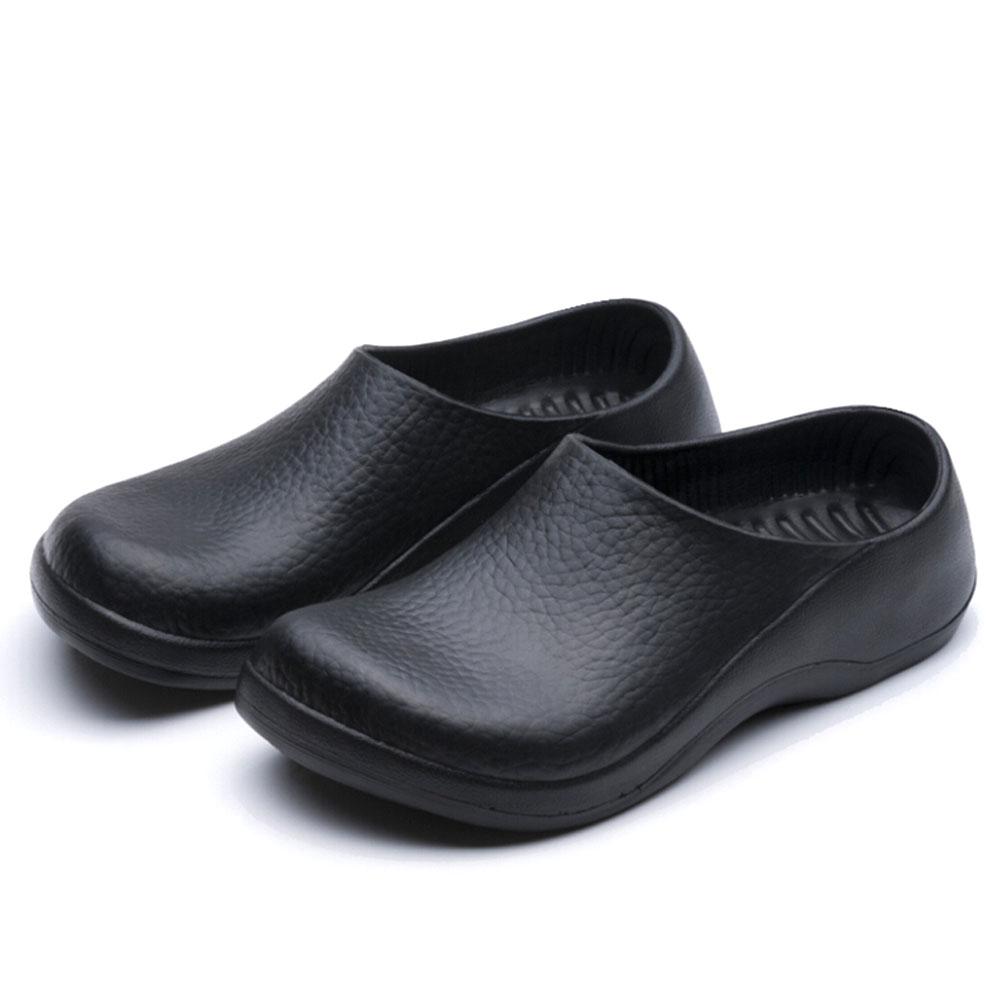non slip work shoes for kitchen ninja mega system costco men chef in nonslip safety oil ...
