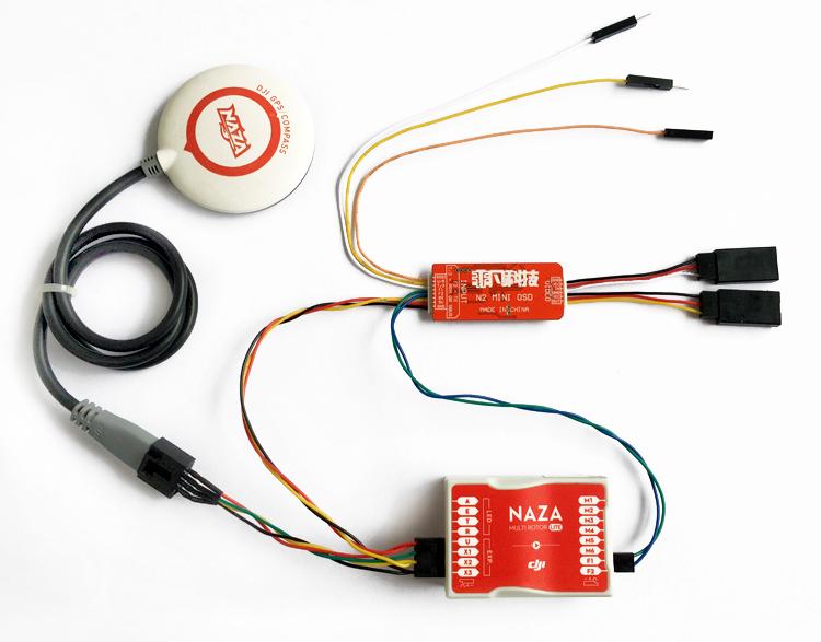 DJI NAZA LITE 飛控 V2 A2非凡 N1N2N3影片疊加OSD MINI 兼容GPS