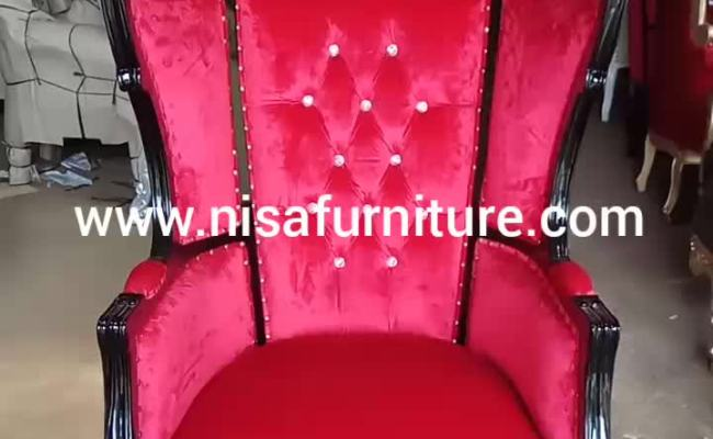 French Antique Canopy Throne Chair Jepara Home Furniture