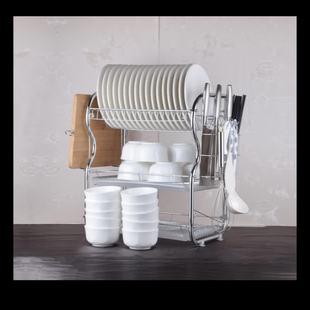 triple kitchen sink countertops las vegas 三层碗架沥水架厨房置物架晾盘放碗碟箱控水槽家用餐具碗筷收纳盒 三层厨房水槽