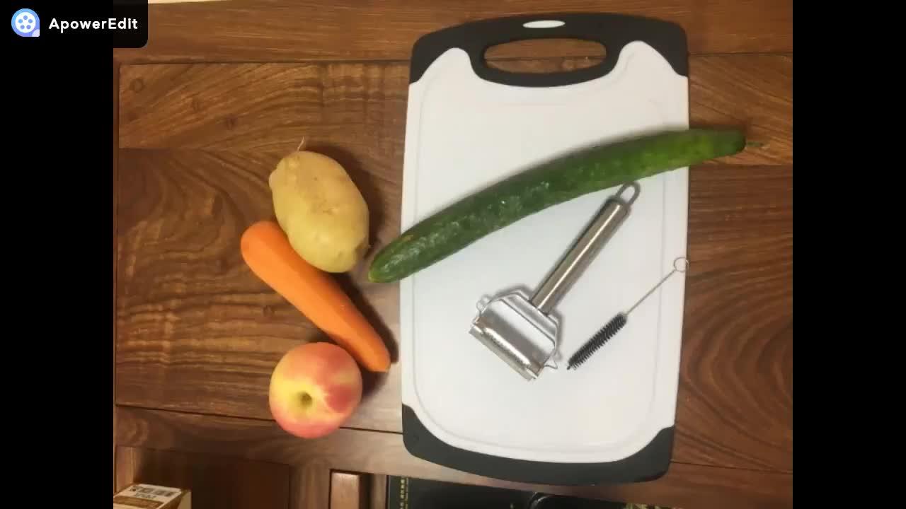 kitchen magician cabinet doors lowes 3pcs multifunctional set stainless steel vegetable peeler
