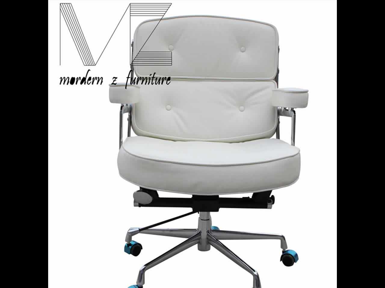 fancy office chairs norwegian posture chair white leather lift swivel furniture