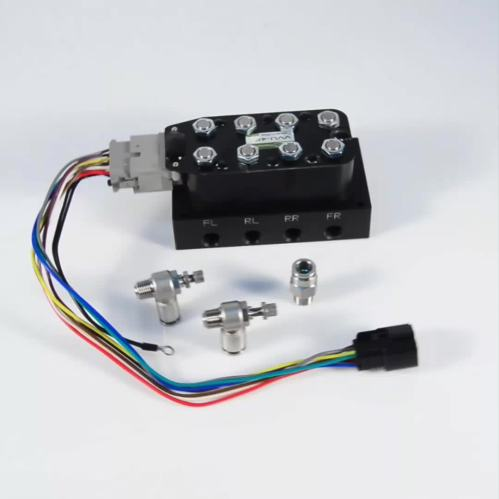 small resolution of solenoid valve manifold unit with wiring harness for air suspension control
