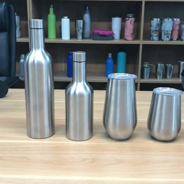 Custom Stemless Wine Glass Double Wall Stainless Steel