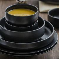 White Marble Pattern Ceramic Dinnerware Set Porcelain ...