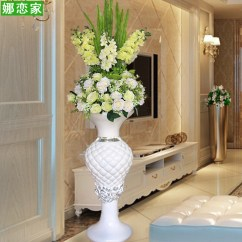 Large Vase For Living Room Black And White Furniture Usd 178 96 Modern Fashion Simple Glass Steel Floor Simulation Flower Arrangement Set Decoration European