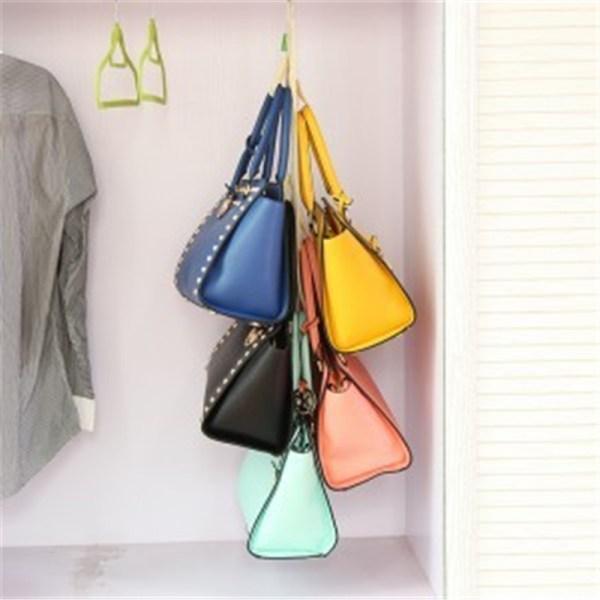 5hooks Handbag Bag Purse Holder Shelf Hanger Rack Storage