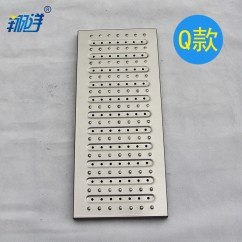 Kitchen Gutter Child's Play Stainless Steel Trench Cover 304 Tweezers 201 Drainage Open Channel Sewer Grille