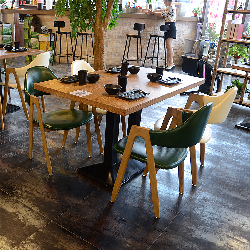 retro cafe dining chairs resin wicker chair with ottoman usd 31 38 tables and combination dessert tea shop snack fast food