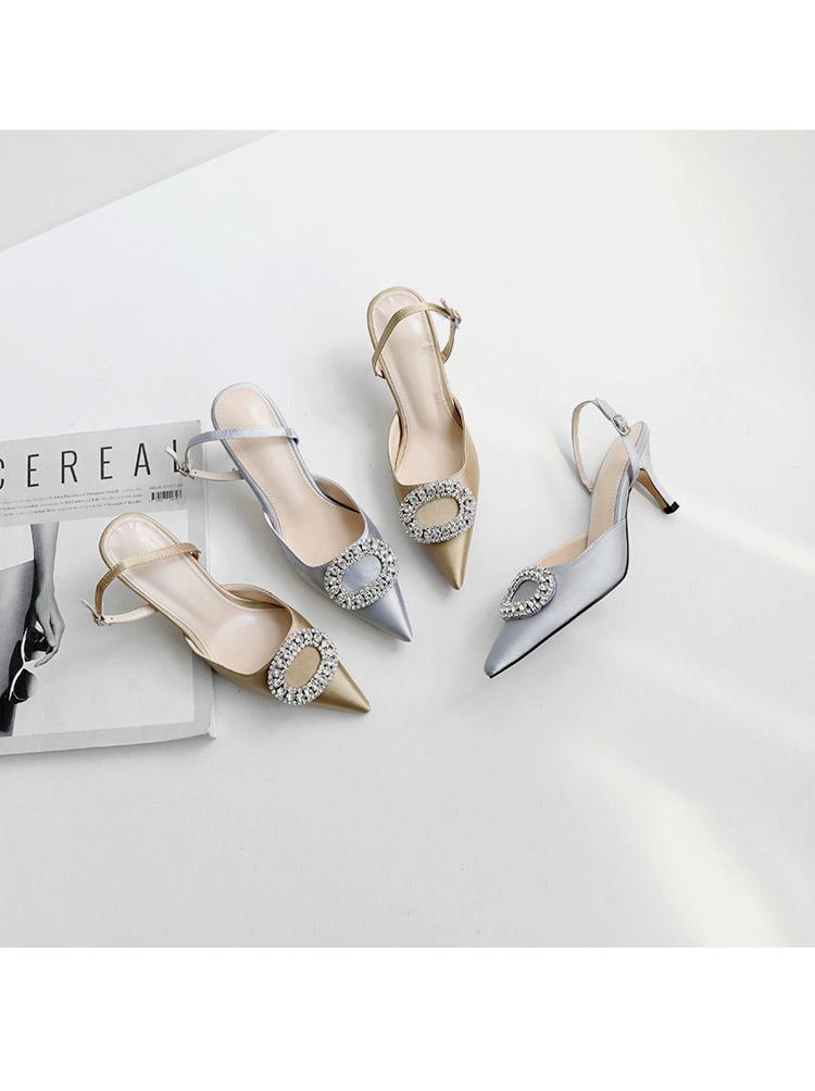 TB23GvDwKOSBuNjy0FdXXbDnVXa !!862068005 Summer new stiletto pointed high heel rhinestone buckle sandals Satin Korean version of the wild Baotou female cool shoes