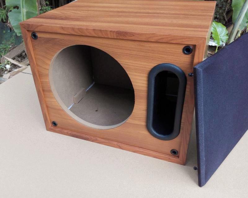 8inch fullrange empty box passive audio wood subwoofer