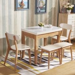 Kitchen Glass Table Home Depot Faucets Moen 北歐橡膠木餐桌實木餐桌可摺疊餐桌鋼化玻璃餐桌廚房小戶型飯桌子 厨房玻璃桌