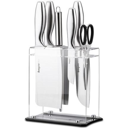 kitchen utensils contemporary islands 拜格刀具套装厨房德国工艺不锈钢家用水果刀厨具全套菜刀套装组合 tmall