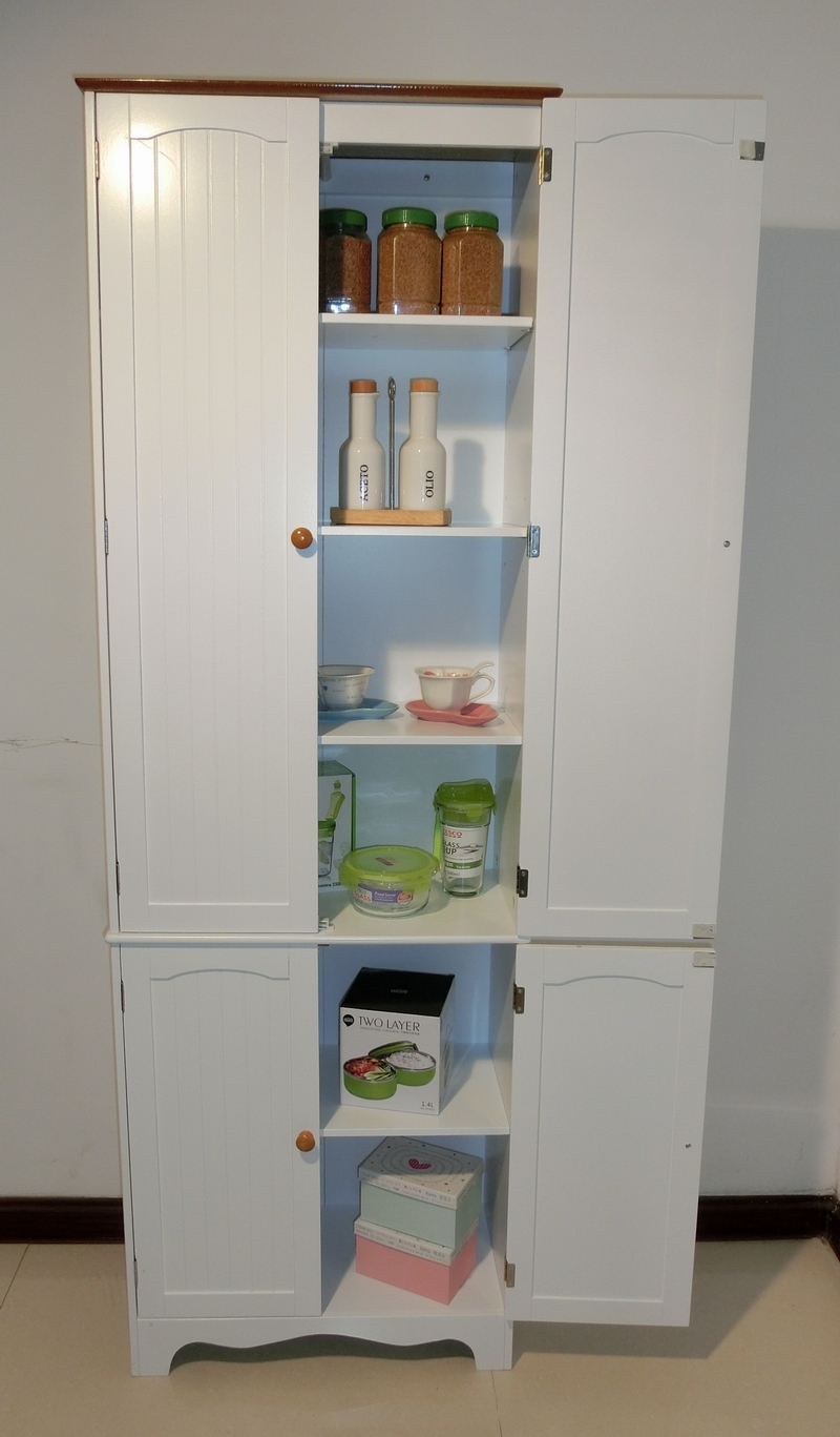 Kitchen Pantry Linen Storage Cabinet Cupboard Bathroom CabinetHC004  eBay