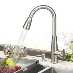 3 Piece Kitchen Faucet Factory Direct Cabinets Pult厨房抽拉式龙头304不锈钢水龙头冷热双温水龙头水槽万向龙头 Tmall
