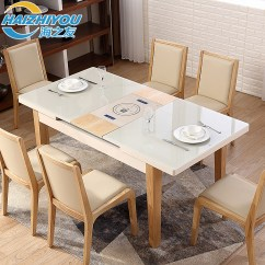 Solid Oak Dining Table And Chairs Big Tall Office Amazon Usd 1117 32 Friends Of The Sea Telescopic Function Double Control Induction Cooker Nordic Wood