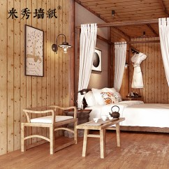 Chinese Living Room Modern Rugs For Usd 71 25 3d Three Dimensional Wood Color Wallpaper Retro Background Wall Hotel Loft