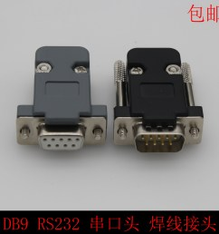 db9 male db9 female db9 connector plastic housing rs232 serial plug 9 pin serial wire bonding [ 3132 x 3132 Pixel ]