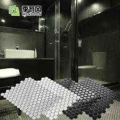 White Kitchen Floor Large Sink Dimensions 白色陶瓷光面六角形马赛克北欧卫生间厨房地板厨卫瓷砖六边形地砖 Tmall 白色陶瓷光面六角形马赛克北欧卫生间厨房地板厨卫瓷砖六边