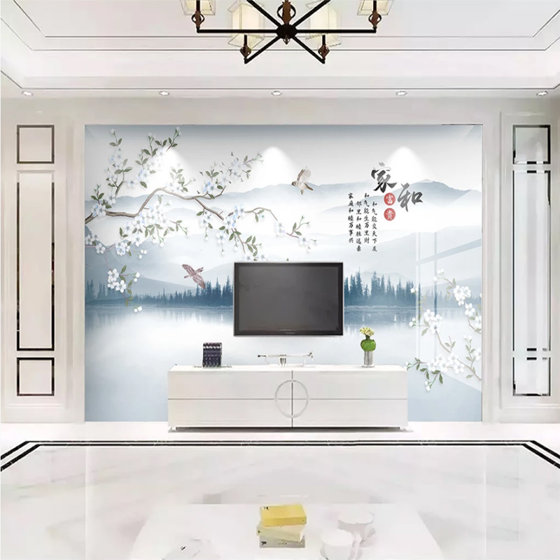 Modern Minimalist Chinese Tv Background Wallpaper Video Wall Living Room Flowers And Birds Wallpaper Bedroom 5d Mural Wall Covering Buychinabulk Com Bulk Buy From China Bulk Buy From China Suppliers And