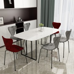Dining Table And Chairs Hong Kong Hanging Chair Pod Usd 256 64 Nordic Simple Modern Home Rectangular 46 Style Light Luxury Small Apartment