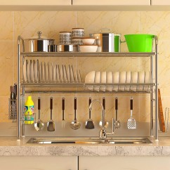 Kitchen Sink Rack Wall Tiles Usd 75 91 Meiyi Clean 304 Stainless Steel Dish Plate Drain Kitchenware Storage