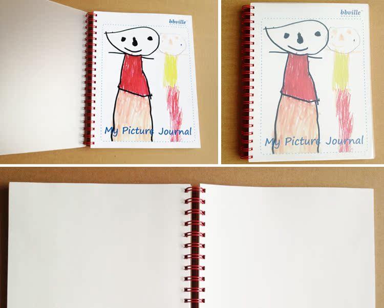 bbville英文拼音親子圖畫日記/書評筆記/塗鴉單字字母抄寫練習本