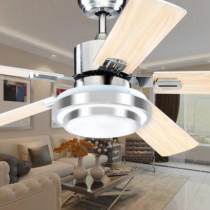 kitchen hood fans crystal island lighting 不锈钢吊扇灯led餐厅客厅厨房风扇灯现代简约家用遥控电风扇吊灯 tmall