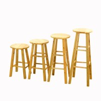 Solid wood bar stool simple high chair bar stool front ...