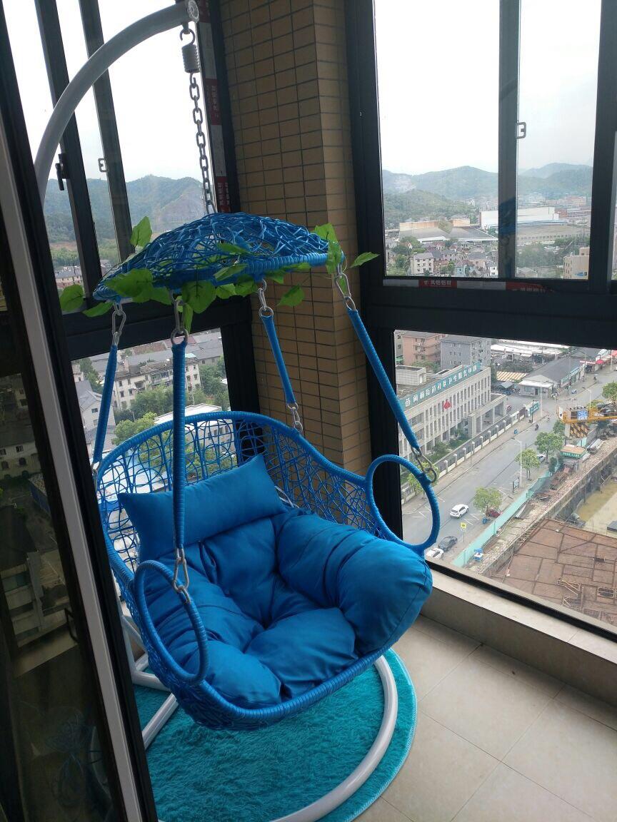 Bird Nest Chair Hanging Chair Indoor Balcony Chair Rocking Chair Swing Single Bird Nest Imitation Teng Thick Rattan Basket Adult Cradle Chair 438816