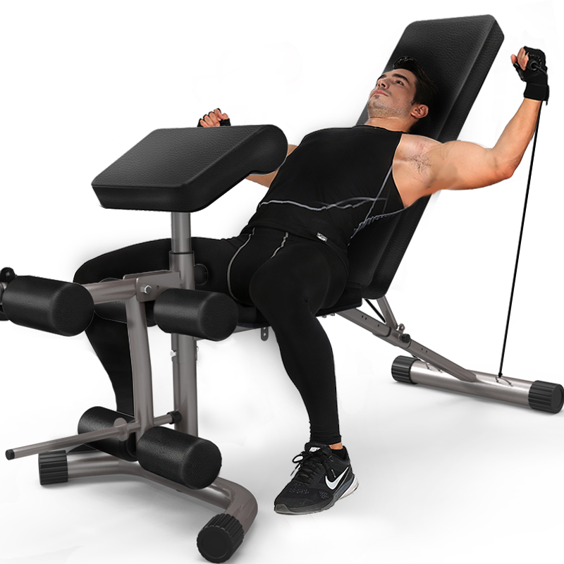 gym bench press chair medieval throne chi shang multifunctional fitness dumbbell sitting posture kick trainer