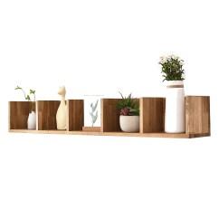 Modern Corner Shelves For Living Room Grey Paint Ideas Uk Usd 75 91 Solid Wood Wall Bedroom Tv Hanging Shelf Oak Partition Zoom Lightbox Moreview
