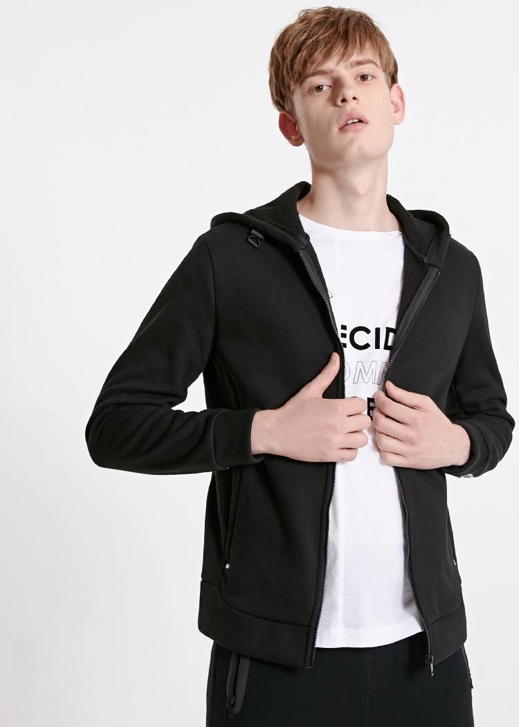 Men's Cardigan Fleeced Hooded Sweatshirt Jacket Men's Hoodies Brand New Fashion Menswear 18