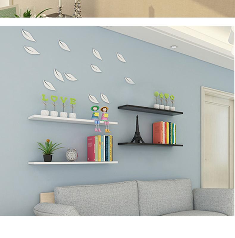 牆上置物架一字隔板免打孔客廳廚房臥室現代簡約壁掛牆面牆壁隔板