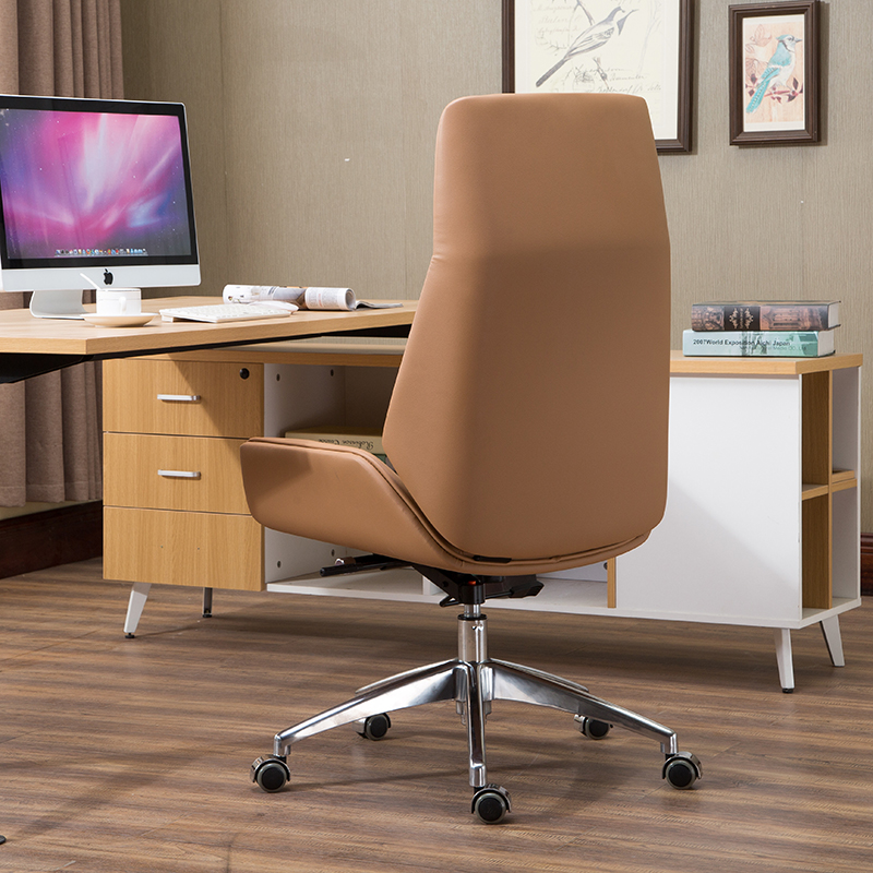 brown computer chair table with chairs usd 211 07 boss solid wood nordic high back color classification leather outer roller section ultra fiber blue