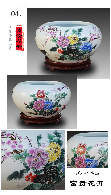 景德鎮陶瓷魚缸青花瓷筆洗金魚烏龜缸睡蓮碗蓮花盆桌面擺件養魚盆