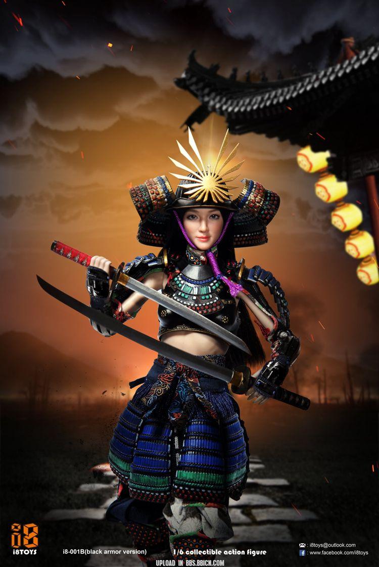i8TOYS 日本戰國武士1/6女兵人模型 凜 盔甲 女武士 可動