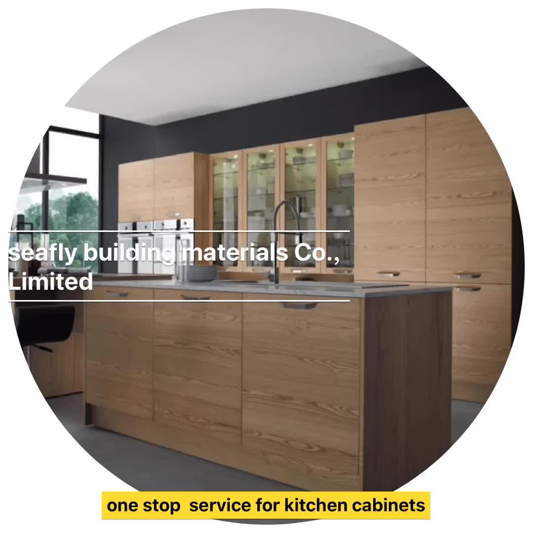 Italian Modern Design Laminate Wood Kitchen Cabinets