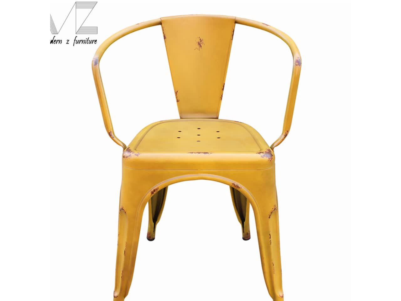 Yellow Metal Chairs Yellow Distressed Metal Dining Chairs Sale Buy